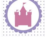 Guirnalda para Fiesta de Princesasimprimible